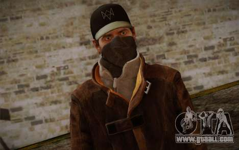 Aiden Pearce from Watch Dogs v6 for GTA San Andreas third screenshot