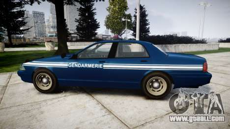 GTA V Vapid Police Cruiser Gendarmerie1 for GTA 4 left view