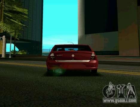Renault Logan for GTA San Andreas back left view