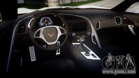 Chevrolet Corvette Stingray C7 2014 for GTA 4 inner view