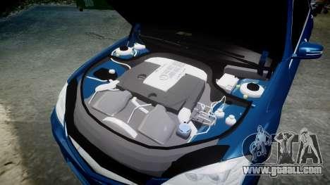 Mercedes-Benz S65 W221 AMG v2.0 rims2 for GTA 4 upper view