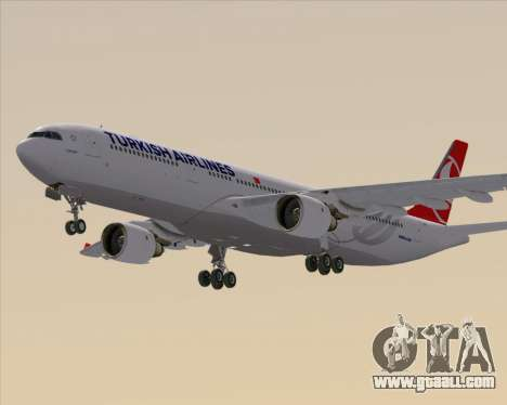 Airbus A330-300 Turkish Airlines for GTA San Andreas back left view