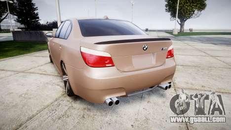 BMW M5 E60 v2.0 Wald rims for GTA 4 back left view