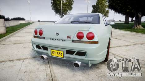 Nissan Skyline GT R33 1996 for GTA 4 back left view
