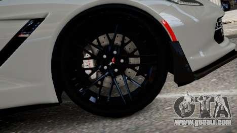 Chevrolet Corvette Z06 2015 for GTA 4 back left view