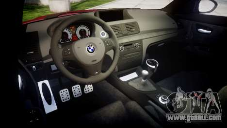 BMW 1M 2011 for GTA 4 inner view