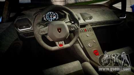 Lamborghini Huracan LP610-4 2015 for GTA 4 inner view
