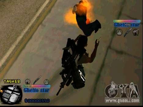 C-HUD Ghetto Star for GTA San Andreas forth screenshot