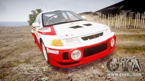 Mitsubishi Lancer Evolution VI Rally Edition for GTA 4
