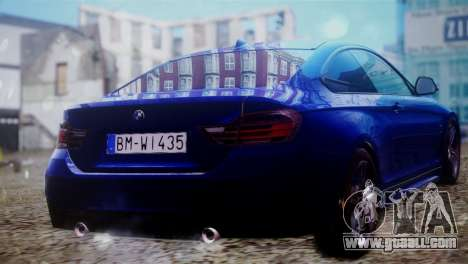 BMW 435i for GTA San Andreas left view