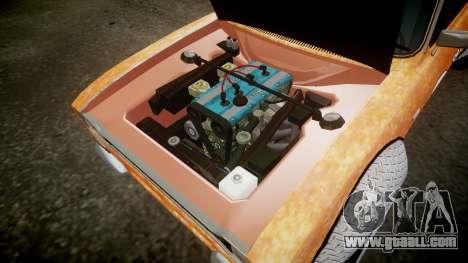 Ford Escort Mk1 Rust Rod v2.0 for GTA 4 inner view