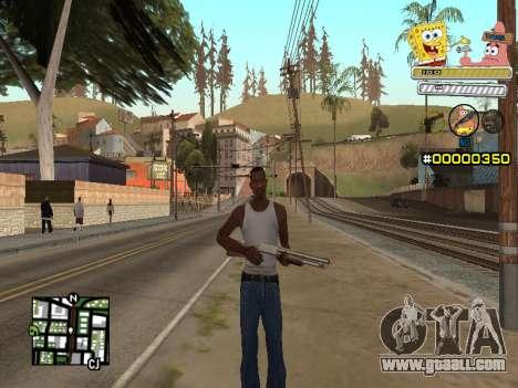 C-HUD Sponge Bob for GTA San Andreas
