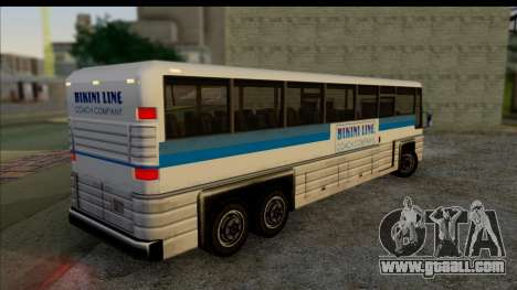 Coach with 3D interior for GTA San Andreas left view