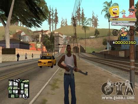 C-HUD Sponge Bob for GTA San Andreas second screenshot