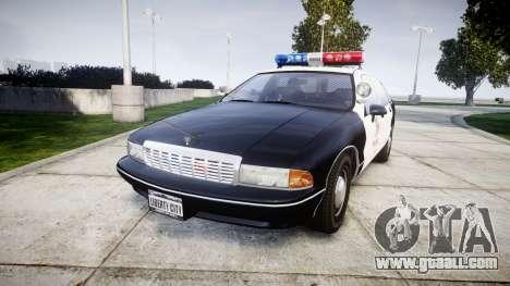 Chevrolet Caprice 1991 LAPD [ELS] Patrol for GTA 4