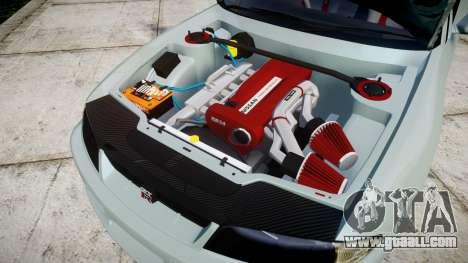 Nissan Skyline GT R33 1996 for GTA 4 inner view