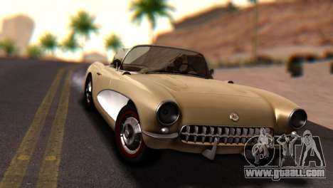 Chevrolet Corvette C1 1962 Dirt for GTA San Andreas right view