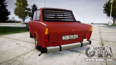 Trabant 601 deluxe 1981 for GTA 4 back left view