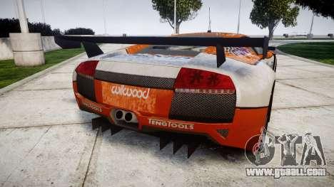 Lamborghini Murcielago LP640 R-GT for GTA 4 back left view