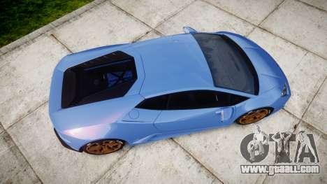 Lamborghini Huracan LP610-4 2015 for GTA 4 right view
