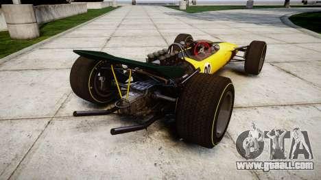 Lotus Type 49 1967 [RIV] PJ19-20 for GTA 4 back left view
