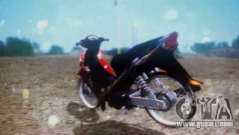 Yamaha Vega R 2007 for GTA San Andreas back left view
