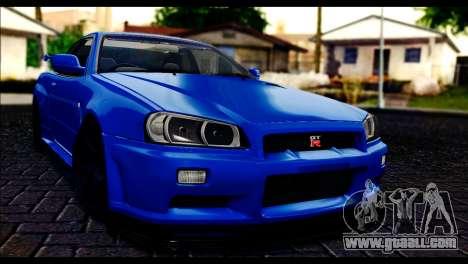Nissan Skyline R-34 for GTA San Andreas