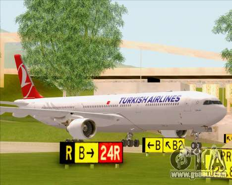 Airbus A330-300 Turkish Airlines for GTA San Andreas side view