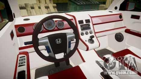 Honda Element 2005 for GTA 4 back view