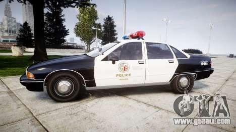 Chevrolet Caprice 1991 LAPD [ELS] Patrol for GTA 4 left view
