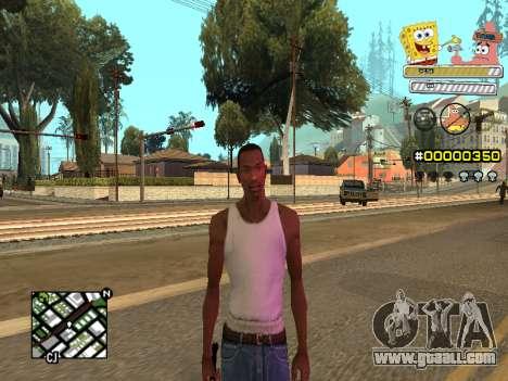 C-HUD Sponge Bob for GTA San Andreas sixth screenshot