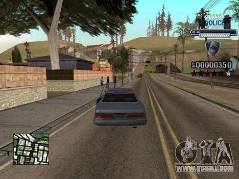 Police HUD for GTA San Andreas third screenshot