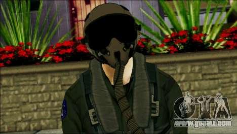 USA Jet Pilot from Battlefield 4 for GTA San Andreas third screenshot