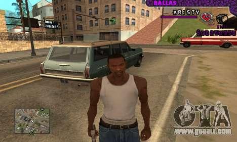 Ballas C-HUD for GTA San Andreas third screenshot
