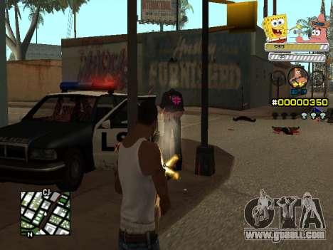 C-HUD Sponge Bob for GTA San Andreas forth screenshot