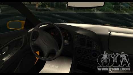 Mitsubishi Eclipce 1999 for GTA San Andreas back left view