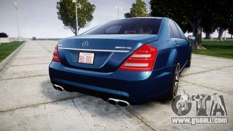 Mercedes-Benz S65 W221 AMG v2.0 rims2 for GTA 4 back left view