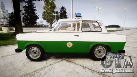 Trabant 601 deluxe 1981 Police for GTA 4 left view