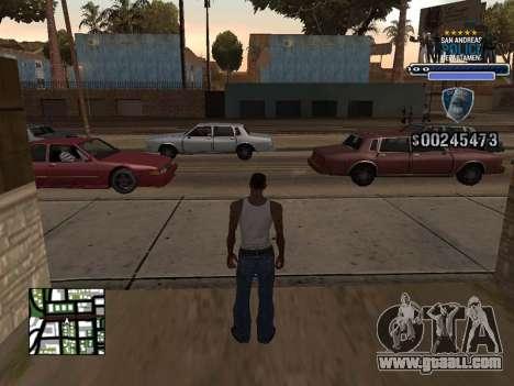 Police HUD for GTA San Andreas