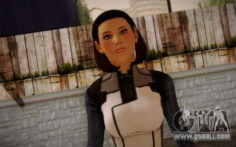 Dr. Eva Core New face from Mass Effect 3 for GTA San Andreas third screenshot