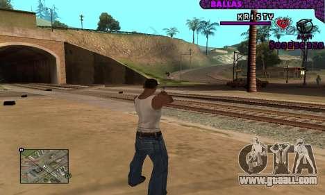Ballas C-HUD for GTA San Andreas forth screenshot