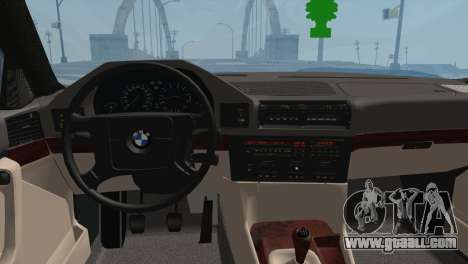 BMW M5 E34 for GTA San Andreas back left view