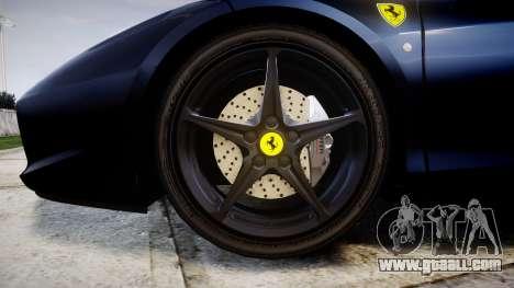 Ferrari 458 Italia 2010 v3.0 Slipknot for GTA 4 back view