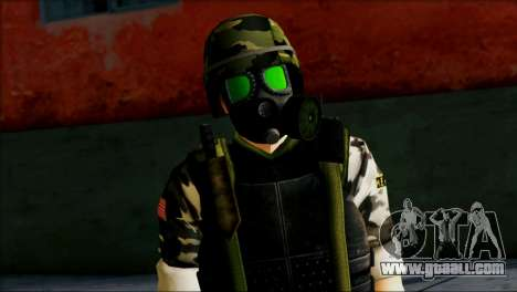 Hecu Soldier 1 from Half-Life 2 for GTA San Andreas third screenshot