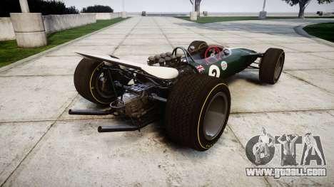 Lotus Type 49 1967 [RIV] PJ1-2 for GTA 4 back left view