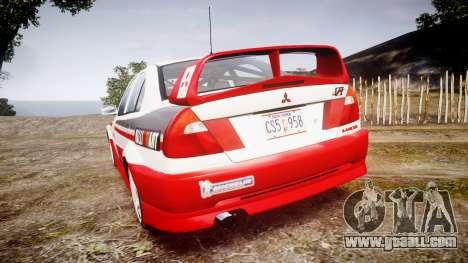 Mitsubishi Lancer Evolution VI Rally Edition for GTA 4 back left view
