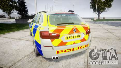 BMW 525d F11 2014 Police [ELS] for GTA 4 back left view