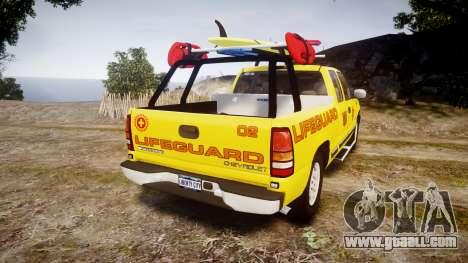 Chevrolet Silverado Lifeguard Beach [ELS] for GTA 4 back left view