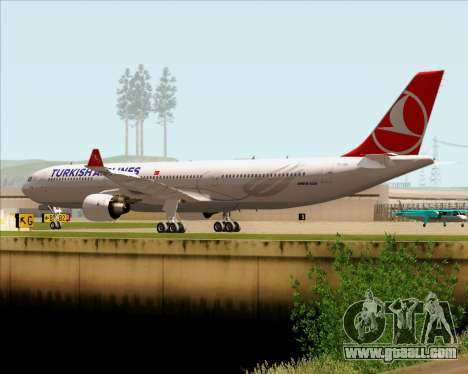 Airbus A330-300 Turkish Airlines for GTA San Andreas back view