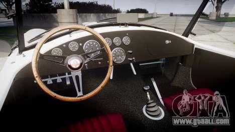 AC Cobra 427 PJ3 for GTA 4 inner view